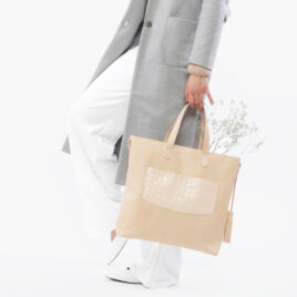 "Ledertasche, Shopper ""Nude"""